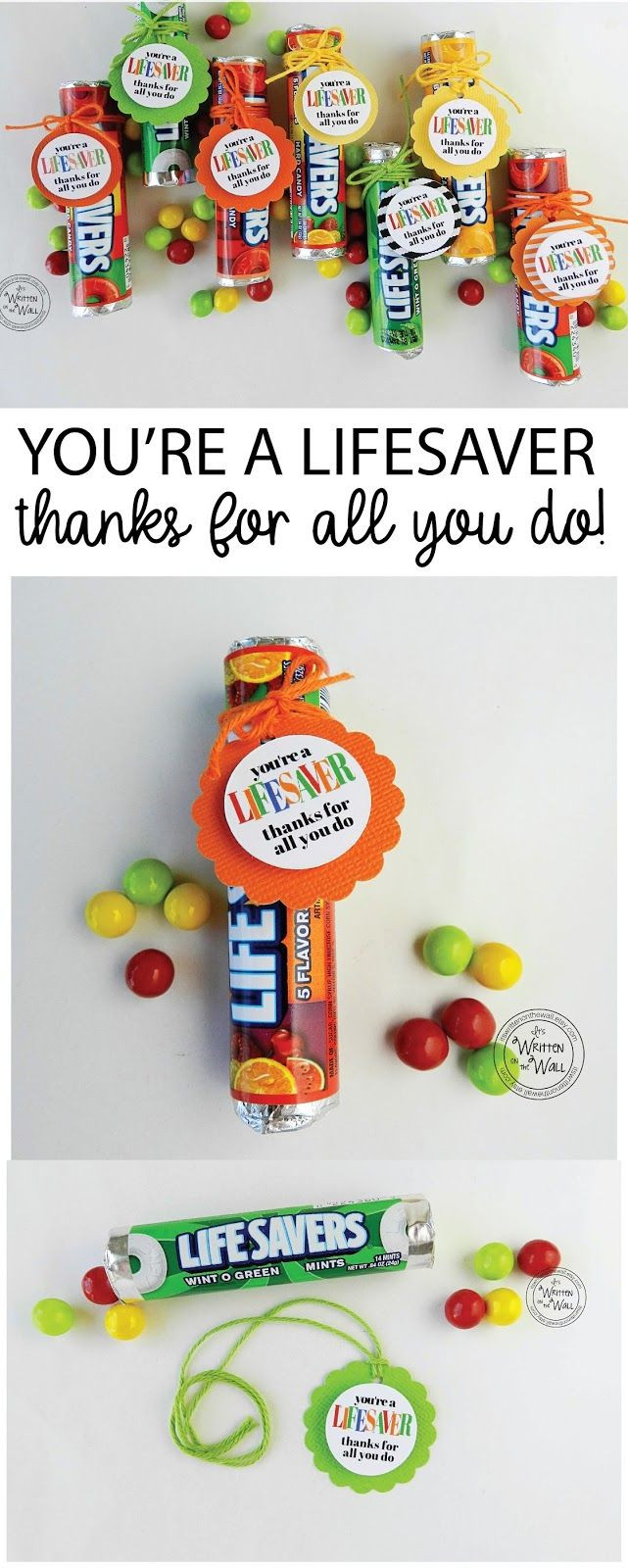 Thank You Gift Ideas For Employees  You re a LIFESAVER—Thanks For All You Do Fun Appreciation