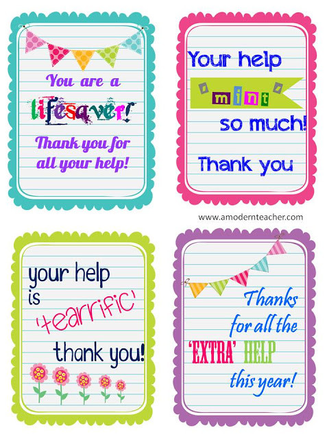 Thank You Gift Ideas For Parents  Parent Appreciation Idea Sunny Days in Second Grade