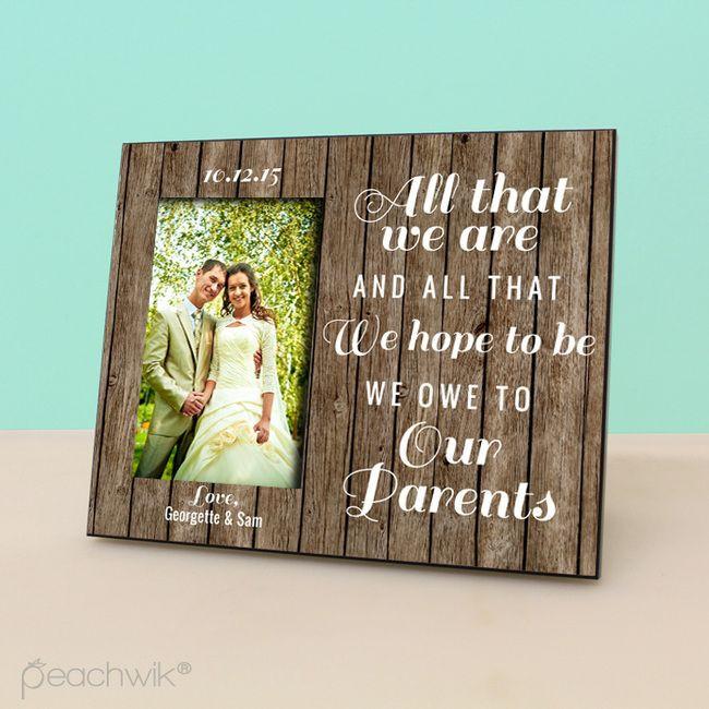 Thank You Gift Ideas For Parents  Best 25 Parent wedding ts ideas on Pinterest