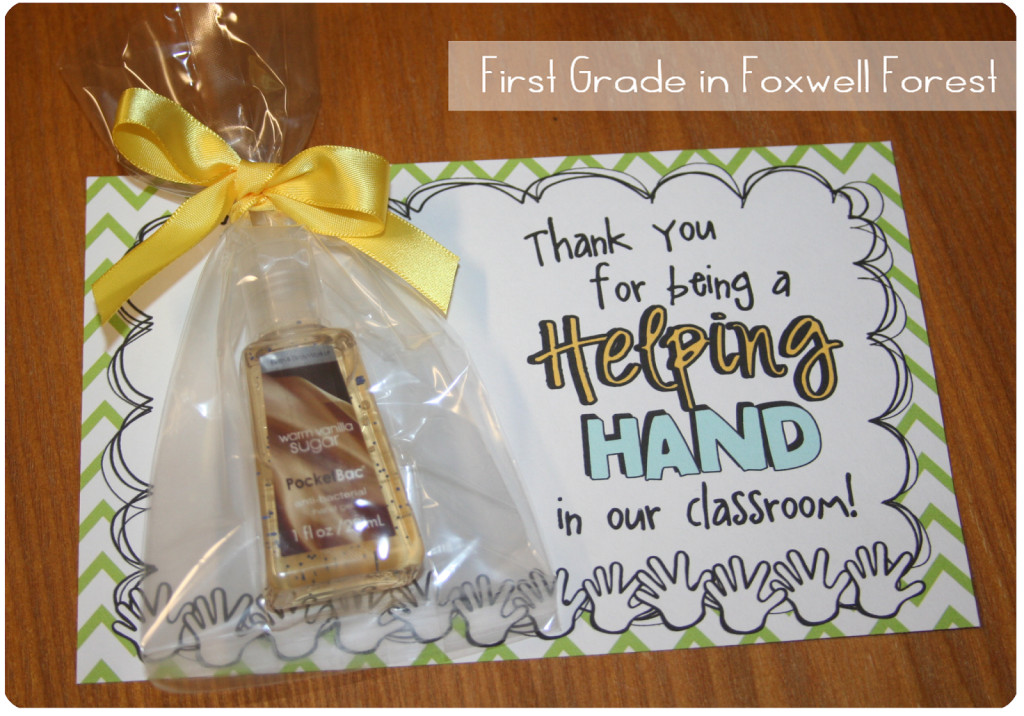 Thank You Gift Ideas For Parents  Volunteer Thank You Gift Foxwell Forest