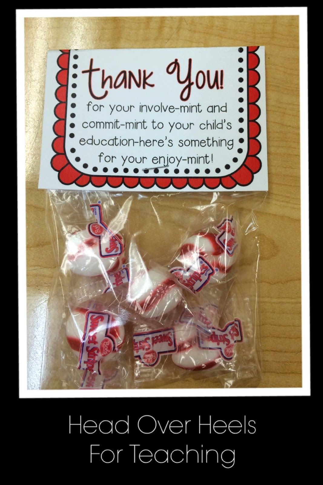 Thank You Gift Ideas For Parents  Open House give parents a thank you note for their involve