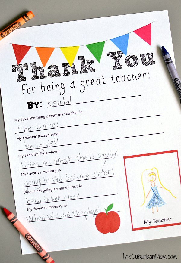 Thank You Gift Ideas For Teachers  Teacher Appreciation Gift Ideas The Idea Room