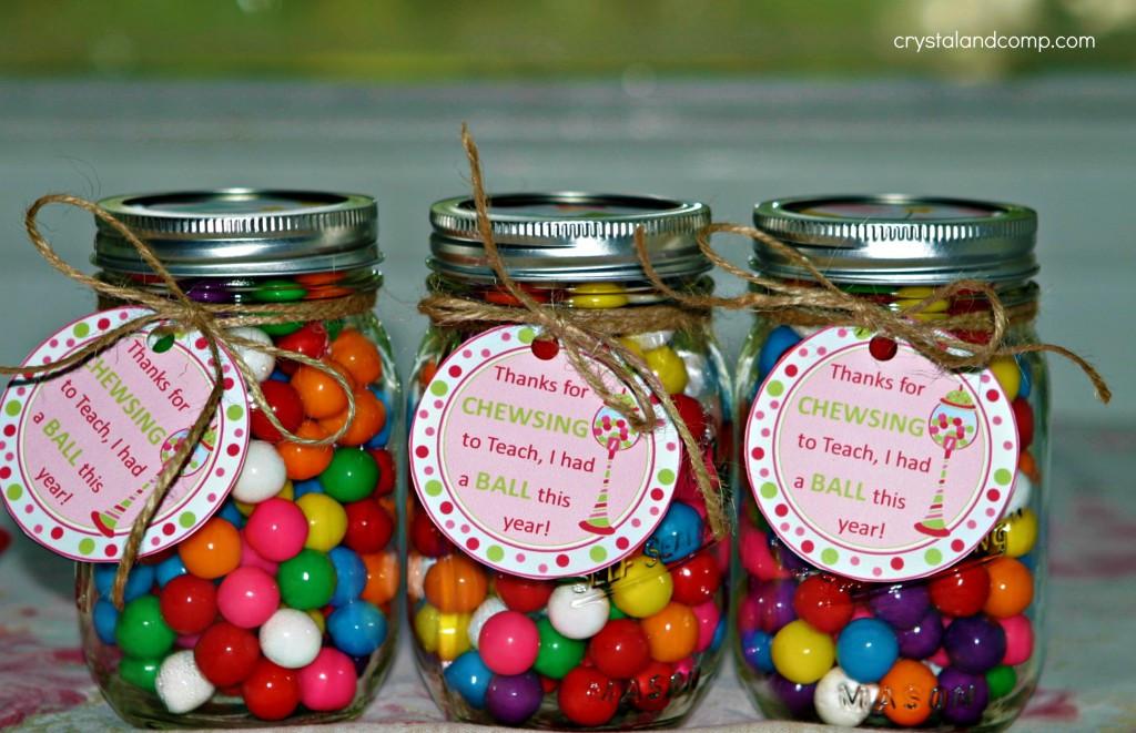 Thank You Gift Ideas  Teacher Appreciation Gift Ideas Bubble Gum