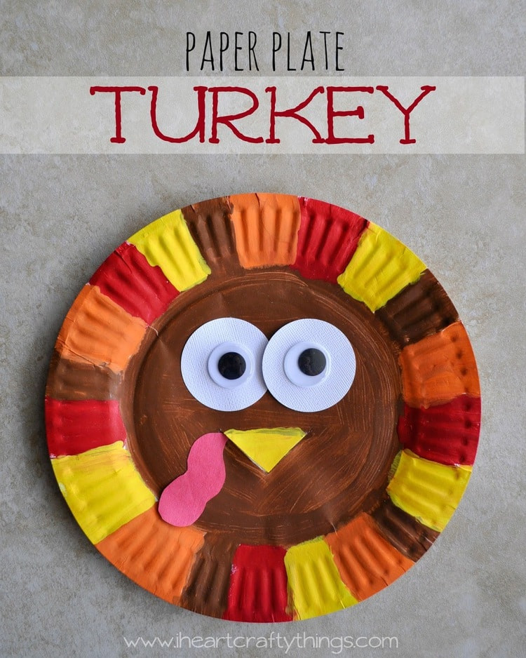 Thanksgiving Arts And Crafts For Toddlers  Paper Plate Turkey