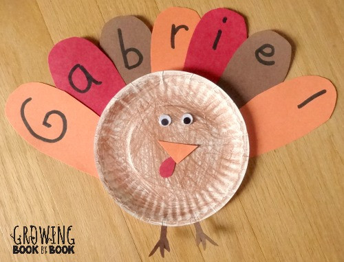 Thanksgiving Arts And Crafts For Toddlers  Name Activities Feather Letter Turkey