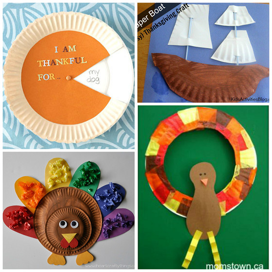 Thanksgiving Arts And Crafts For Toddlers  Thanksgiving Paper Plate Crafts for Kids Crafty Morning