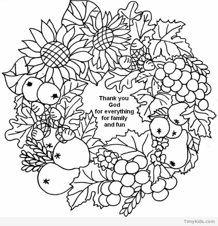 Thanksgiving Coloring Pages For Adults Free  christian thanksgiving coloring pages