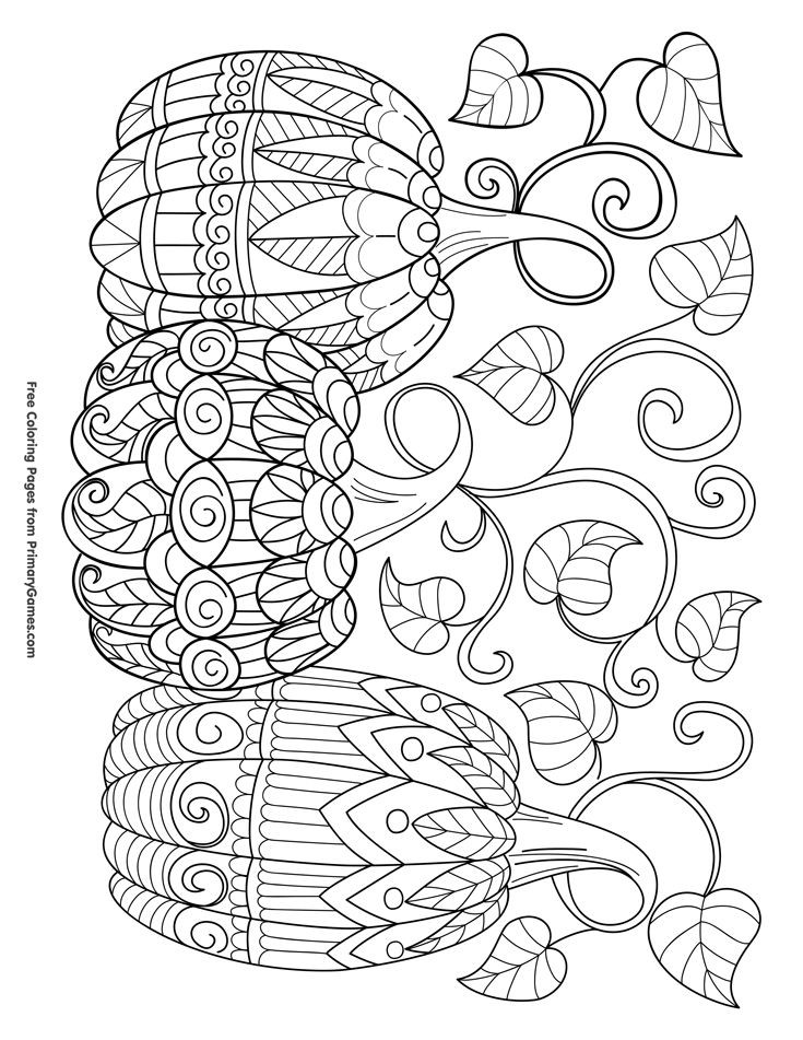 Thanksgiving Coloring Pages For Adults Free  Free Printable Thanksgiving Coloring Pages For Adults