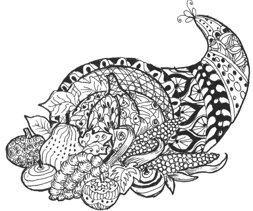 Thanksgiving Coloring Pages For Adults Free  Printable Thanksgiving Coloring Pages For Adults – Happy