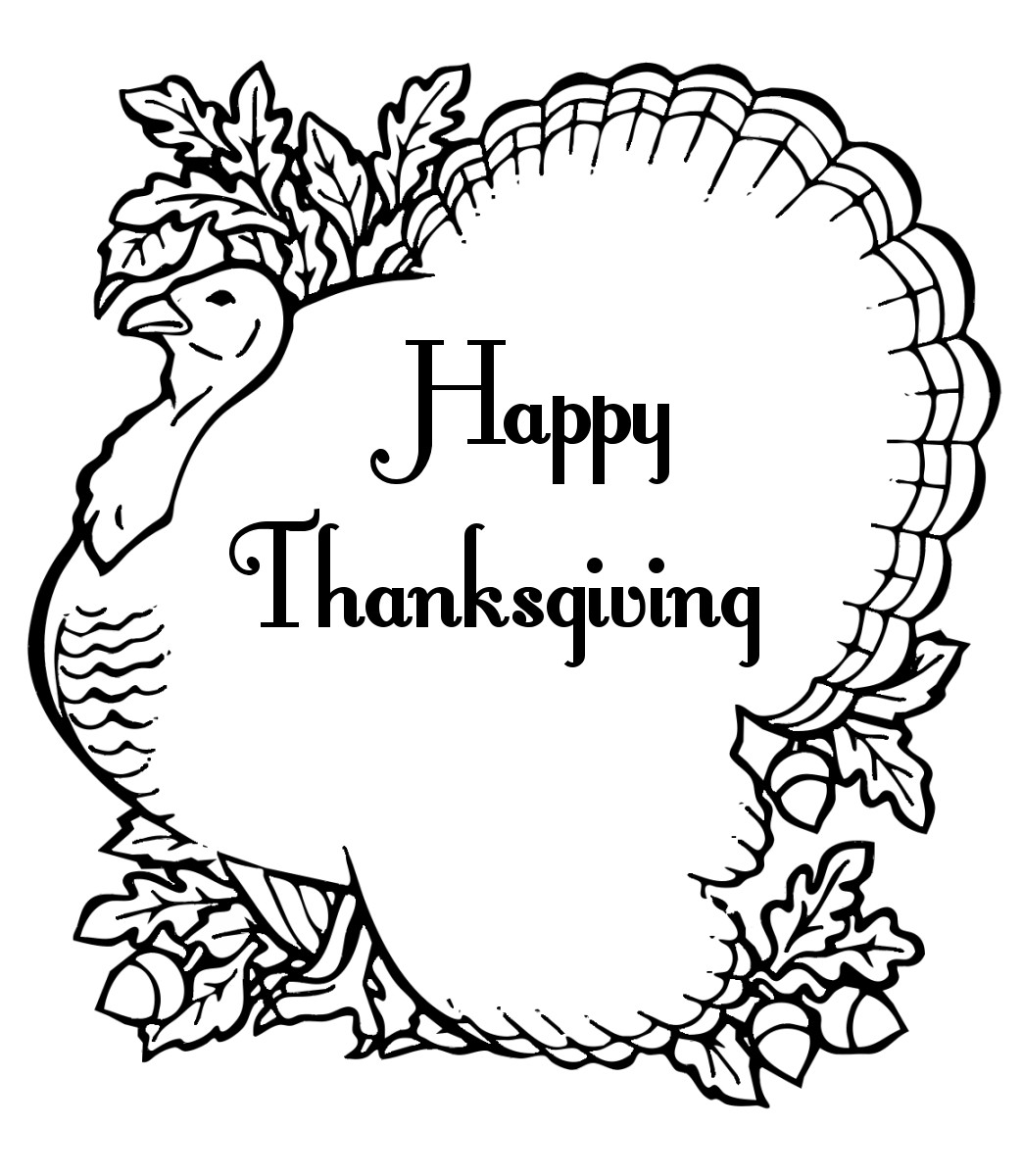 Thanksgiving Coloring Pages For Adults Free  Free Printable Thanksgiving Coloring Pages For Kids