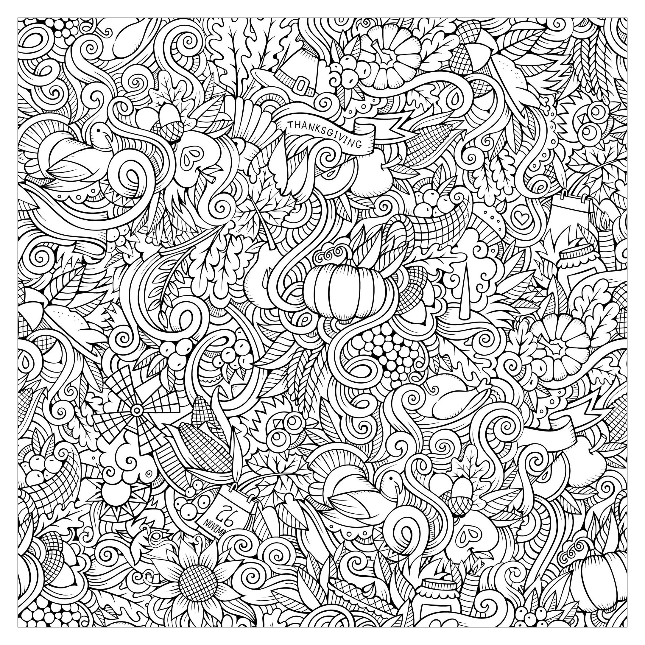 Thanksgiving Coloring Pages For Adults Free  Thanksgiving Coloring Pages For Adults Coloring Home