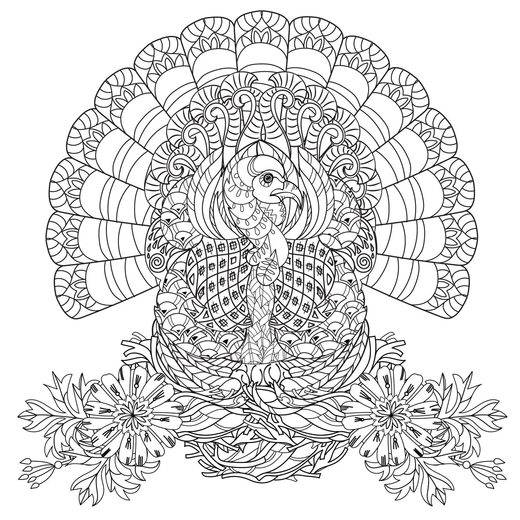 Thanksgiving Coloring Pages For Adults Free  Adult Coloring Pages For Thanksgiving – Happy Easter