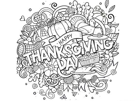 Thanksgiving Coloring Pages For Adults Free  23 Free Thanksgiving Coloring Pages and Activities Round