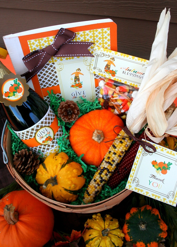 Thanksgiving Gift Baskets Ideas  Thanksgiving DIY Gratitude Gift Basket Party Ideas