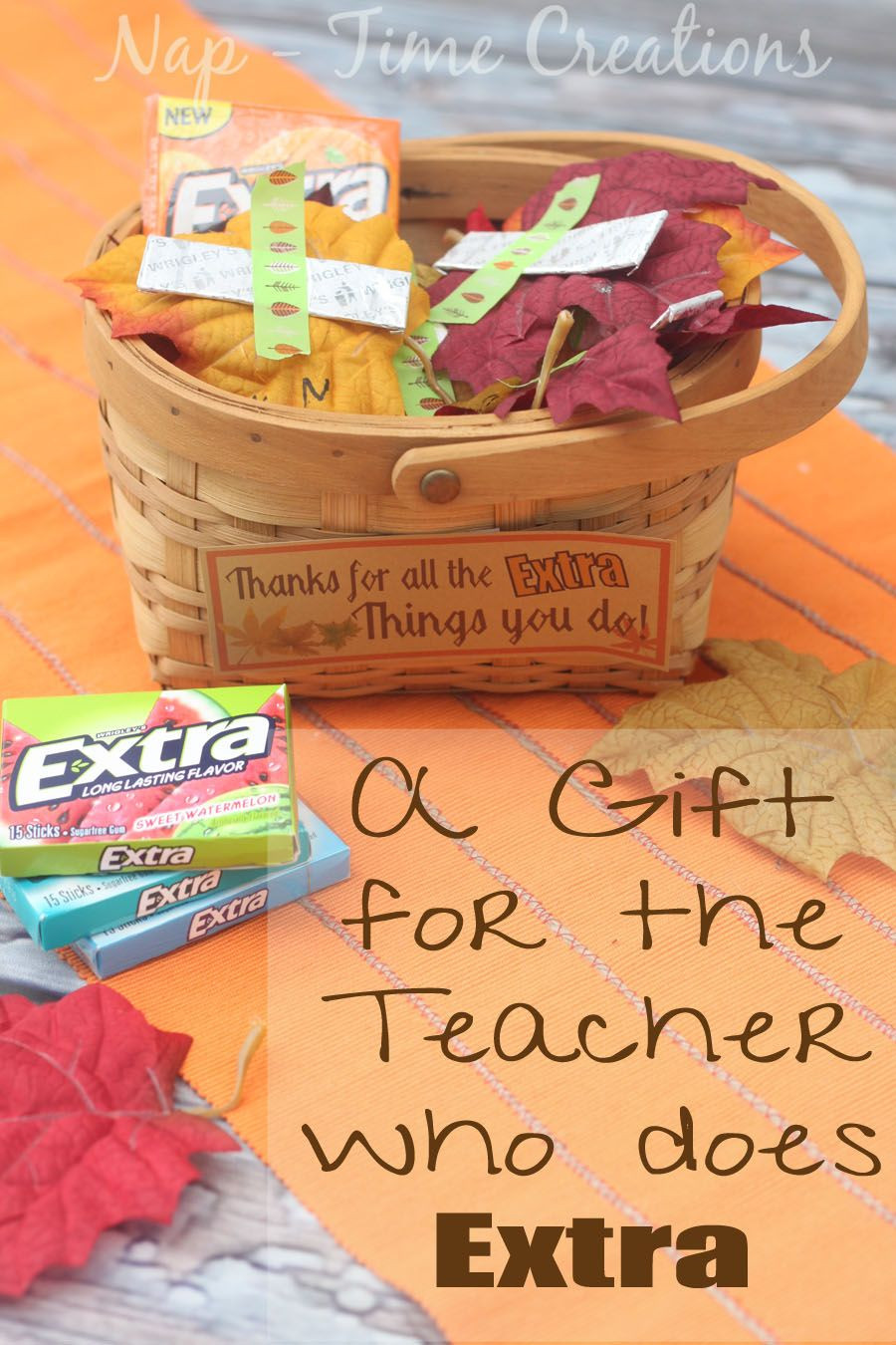 Thanksgiving Gift Ideas For Teachers  Thanksgiving Teacher Gift for the one that gives Extra