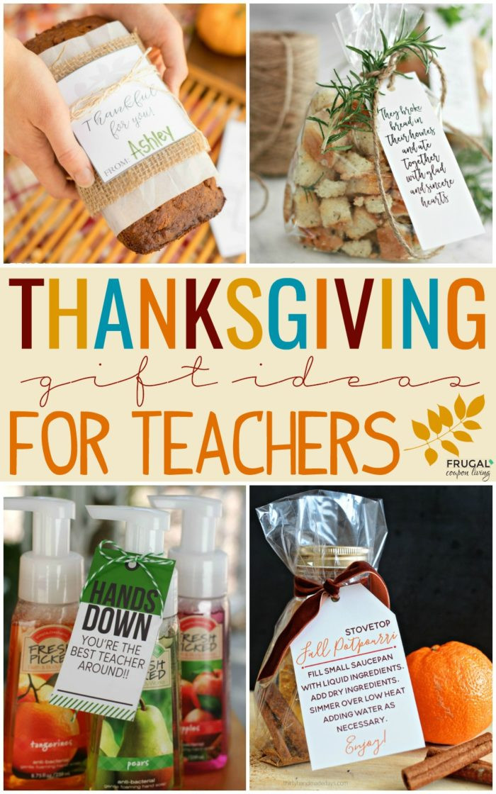 Thanksgiving Gift Ideas For Teachers  Thanksgiving Gift Ideas for Teachers with Printables
