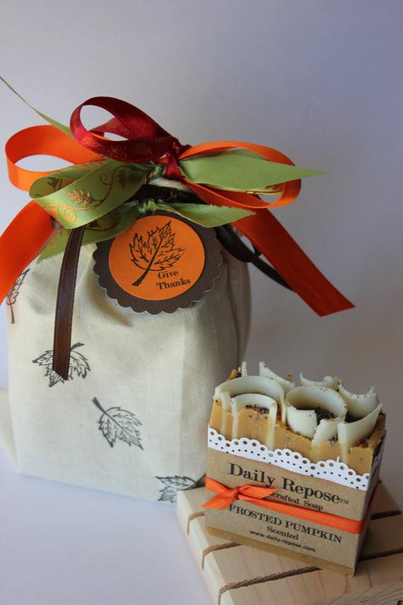Thanksgiving Hostess Gift Ideas Homemade  THANKSGIVING SOAP SET Hostess Gift Pumpkin Cider Pecan