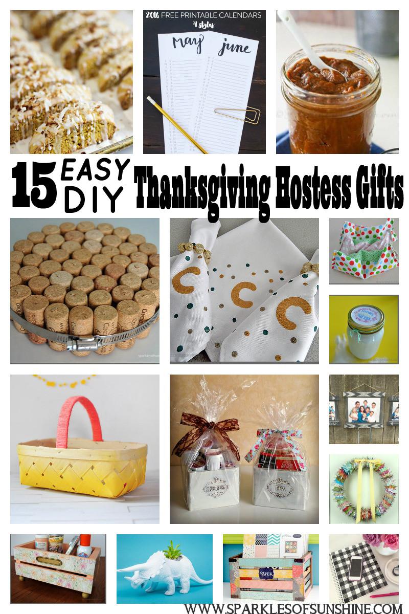 Thanksgiving Hostess Gift Ideas Homemade  15 Easy DIY Thanksgiving Hostess Gifts Sparkles of Sunshine