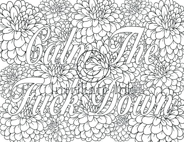 The Calm Coloring Book  Calm the F Down Coloring Book Pages Download