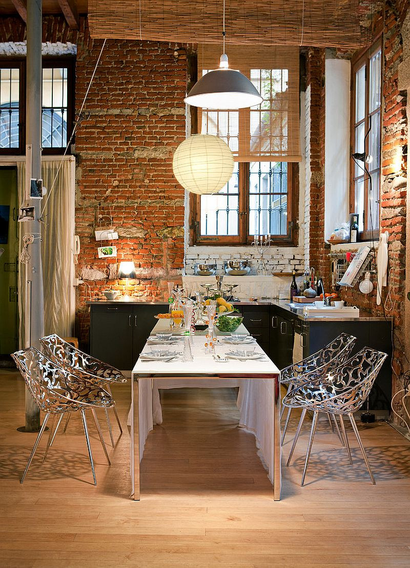 Best ideas about The Dining Room . Save or Pin 50 Bold and Inventive Dining Rooms with Brick Walls Now.