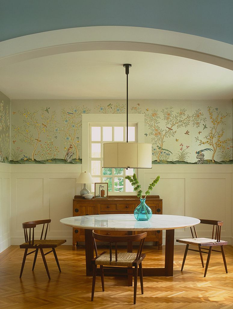 Best ideas about The Dining Room . Save or Pin 27 Splendid Wallpaper Decorating Ideas for the Dining Room Now.