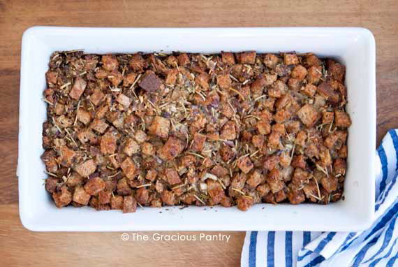 Best ideas about The Gracious Pantry . Save or Pin Thanksgiving Crouton Stuffing Recipe Now.