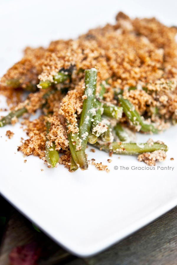 Best ideas about The Gracious Pantry . Save or Pin Clean Eating Green Bean Casserole Recipe The Gracious Pantry Now.