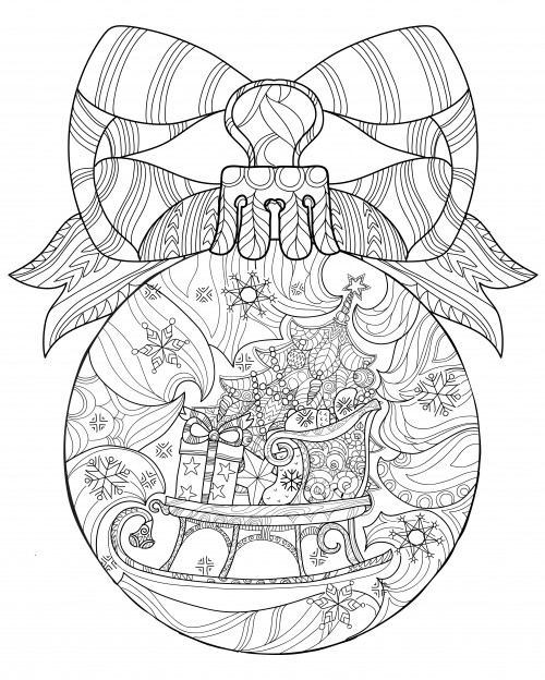 Therapy Coloring Pages For Adults  Christmas Coloring Anti Stress Therapy 19