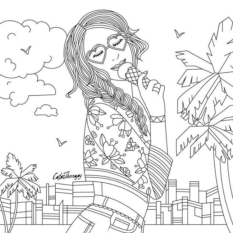 Therapy Coloring Pages For Adults  LadyWithIceCream color with Color Therapy