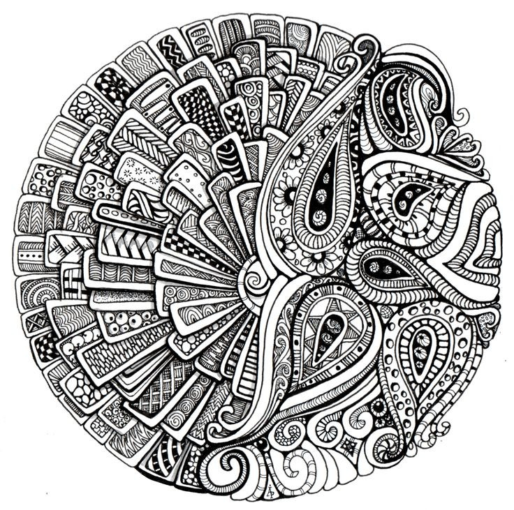 Therapy Coloring Pages For Adults  calming art therapy doodle and colour your stress away