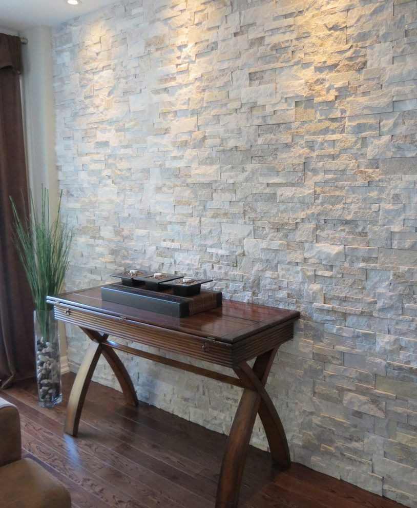Best ideas about Tile Accent Wall . Save or Pin Interior stone walls living room contemporary with stone Now.