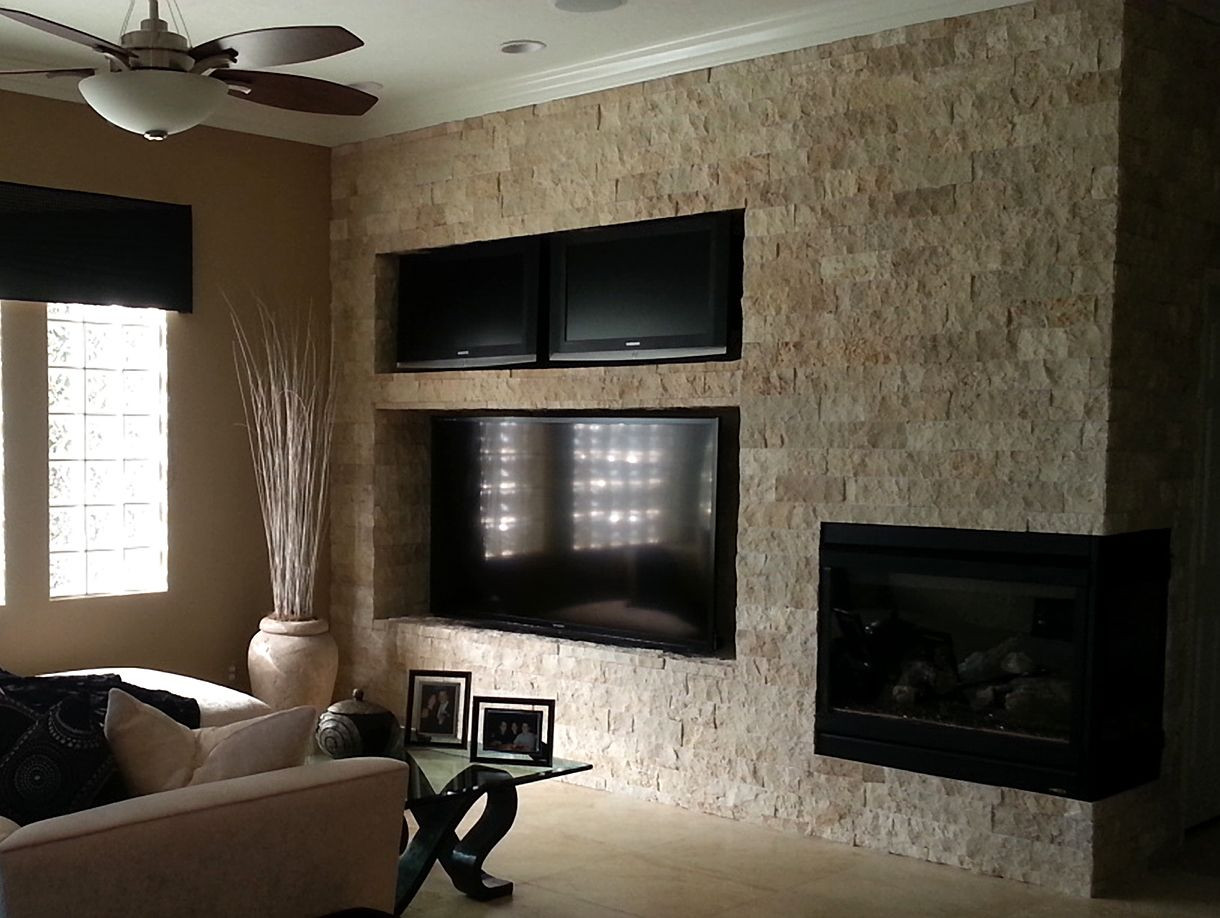 Best ideas about Tile Accent Wall . Save or Pin TileTuesday highlights an installation of our Limestone Now.