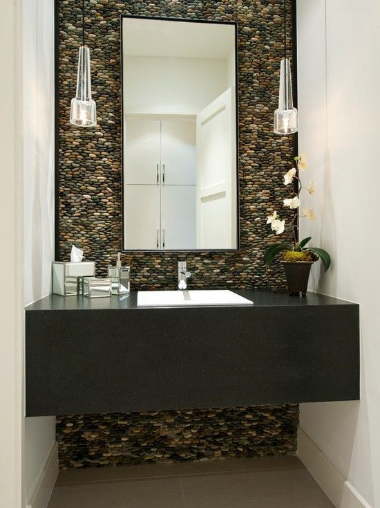 Best ideas about Tile Accent Wall In Bathroom . Save or Pin 132 best images about Wall Tile Ideas Pebble and Stone Now.