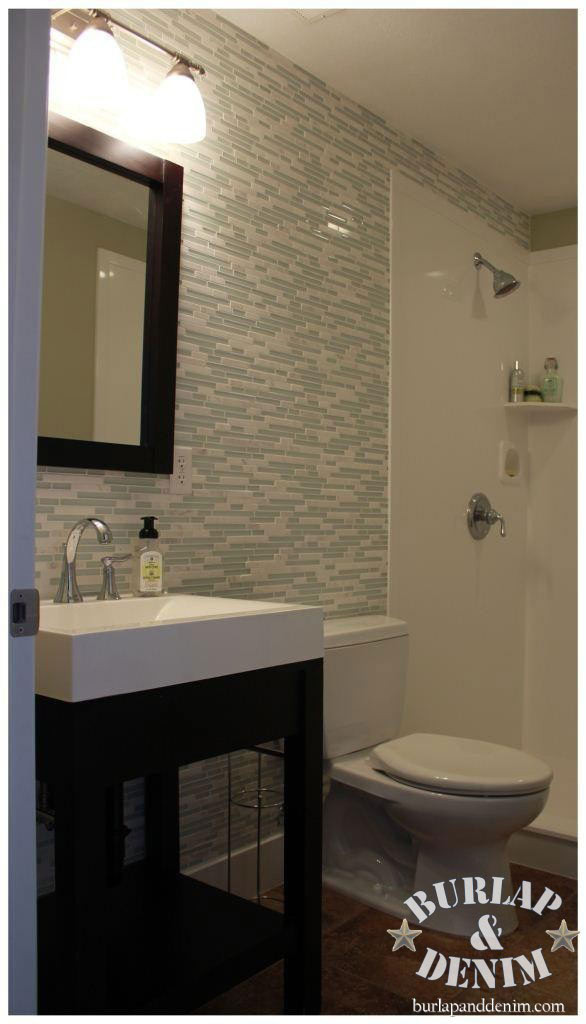 Best ideas about Tile Accent Wall In Bathroom . Save or Pin Take it up a Notch with Glass and Marble Tile Mosaic Now.