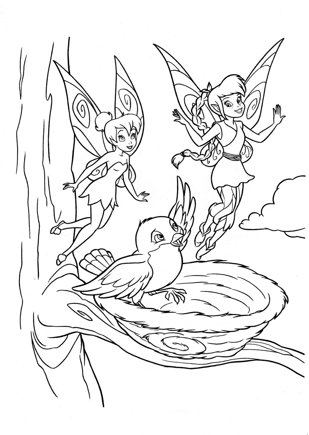 Tinker Bell Coloring Pages For Girls  Tinkerbell Fairies Coloring Pages Bestofcoloring
