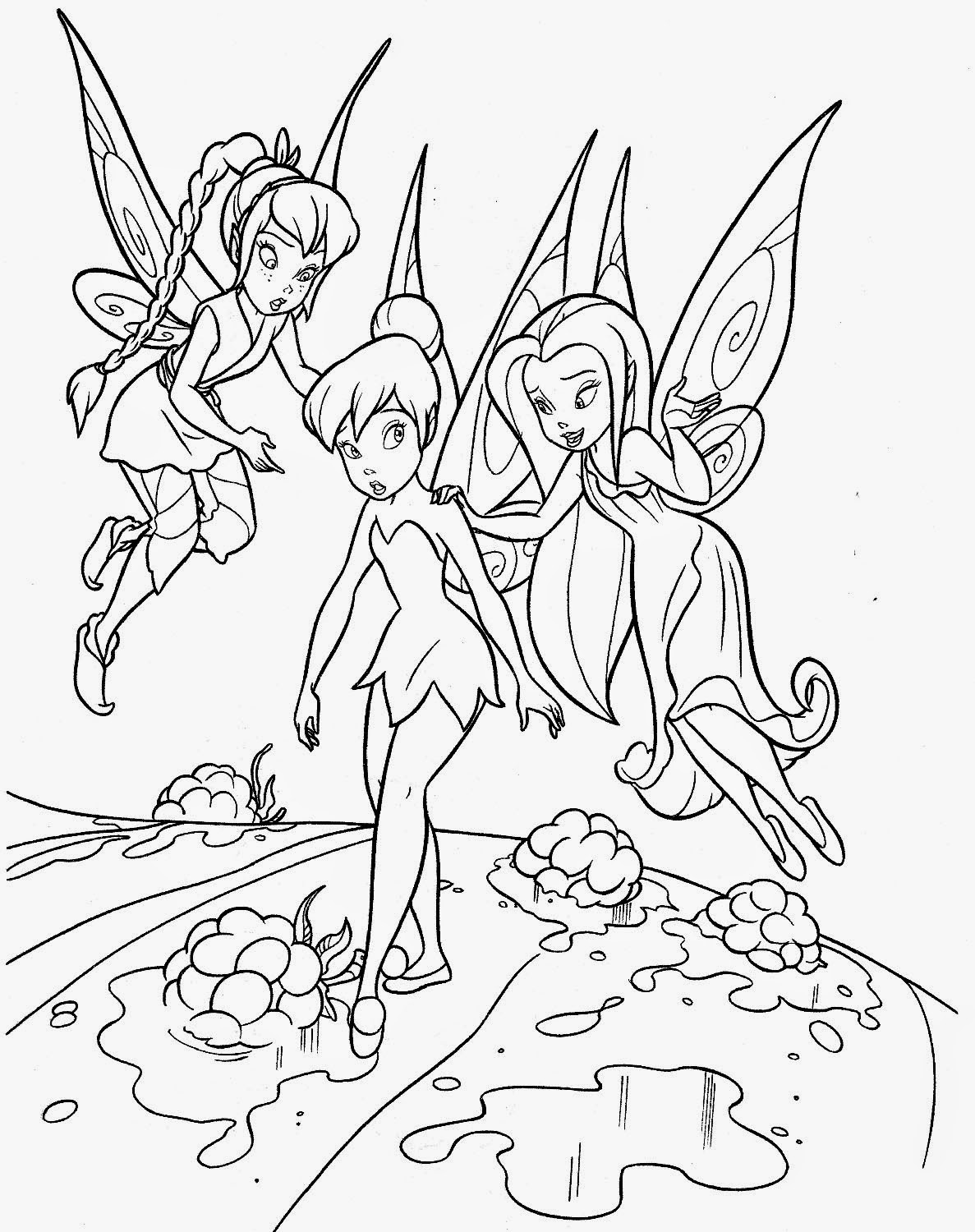 Tinker Bell Coloring Pages For Girls  Coloring Pages Tinkerbell Coloring Pages and Clip Art