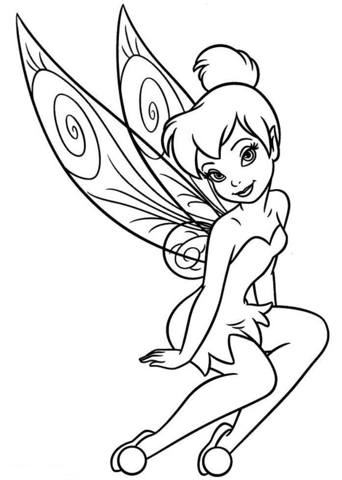 Tinker Bell Coloring Pages For Girls  Download and Print free tinkerbell coloring pages girls