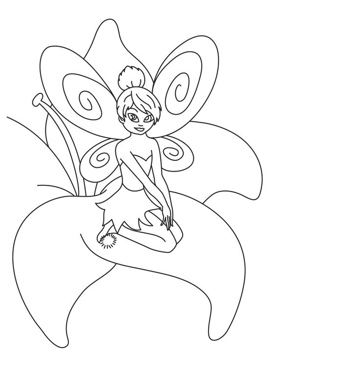 Tinker Bell Coloring Pages For Girls  Free Printable Tinkerbell Coloring Pages For Kids