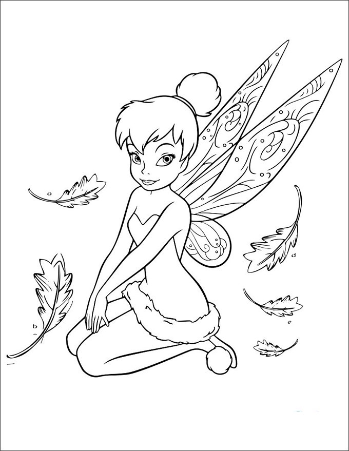 Tinker Bell Coloring Pages For Girls  30 Tinkerbell Coloring Pages Free Coloring Pages