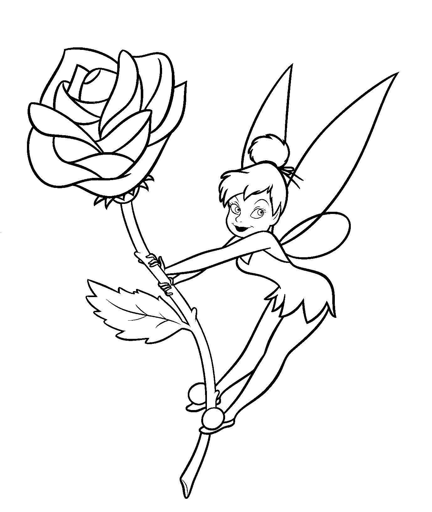 Tinker Bell Coloring Pages For Girls  Tinkerbell Coloring Pages