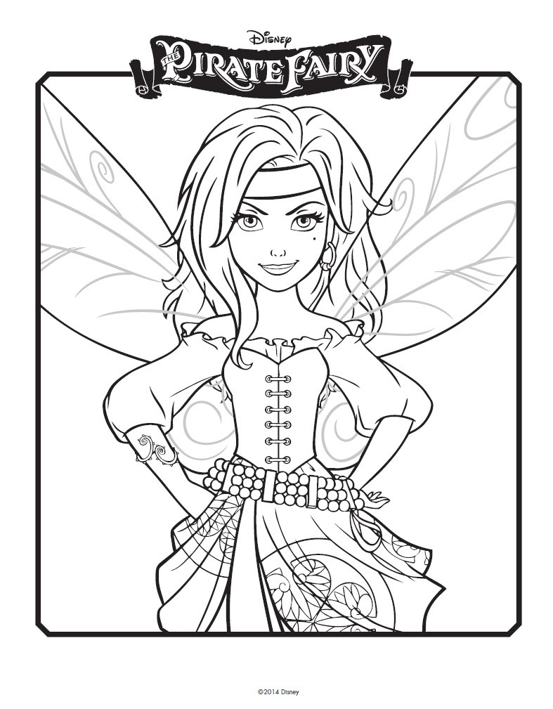Tinker Bell Coloring Pages For Girls  Disney Easter Coloring Pages Tinkerbell Friends Pirate