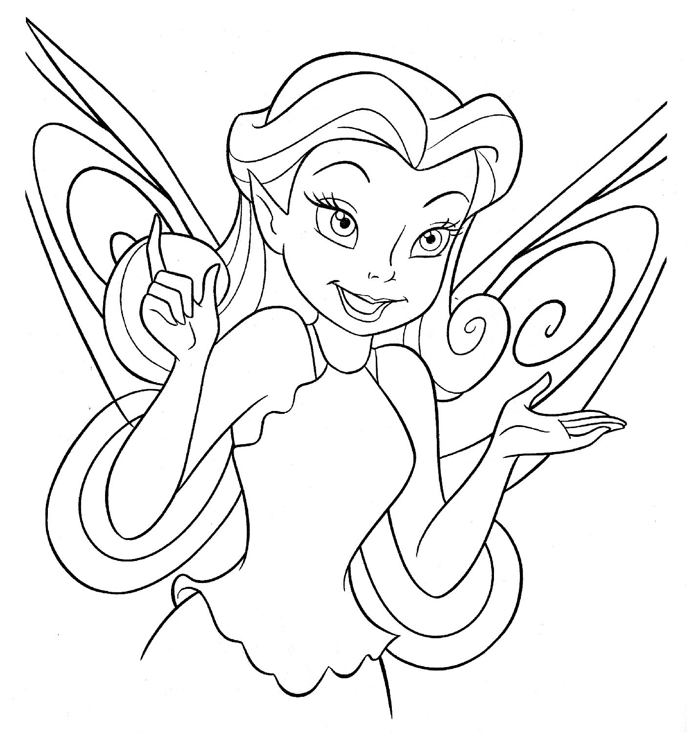 Tinker Bell Coloring Pages For Girls  36 Disney Tinkerbell coloring pages for Girls
