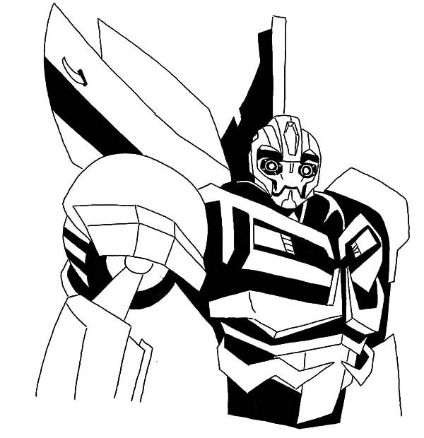 Transformers Coloring Pages Bumblebee  Bumble Bee Coloring Pages Bestofcoloring