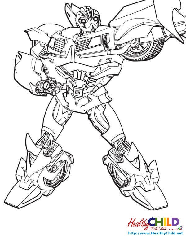 Transformers Coloring Pages Bumblebee  Bumble Bee Transformer Coloring Transformers Pages Prime