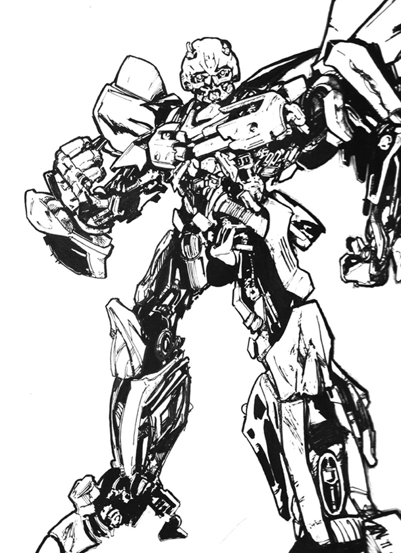 Transformers Coloring Pages Bumblebee  Aming Cool Bumblebee Transformers Coloring Pages
