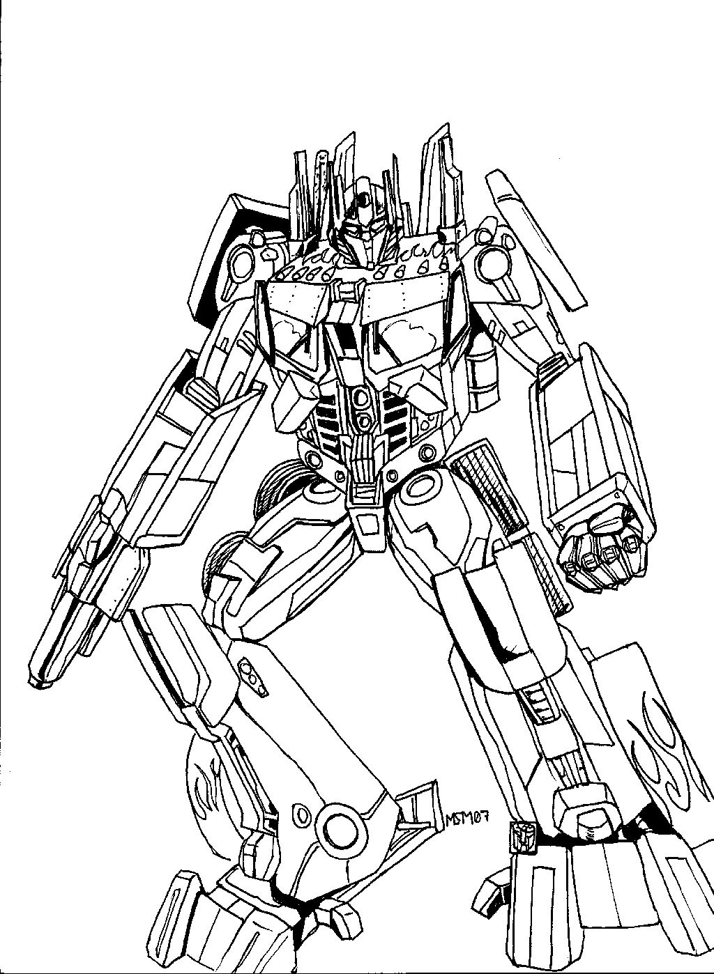 Transformers Coloring Pages Bumblebee  Free Printable Transformers Coloring Pages For Kids