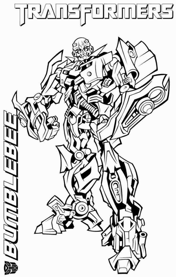 Transformers Coloring Pages Bumblebee  Transformers Coloring Pages coloringsuite