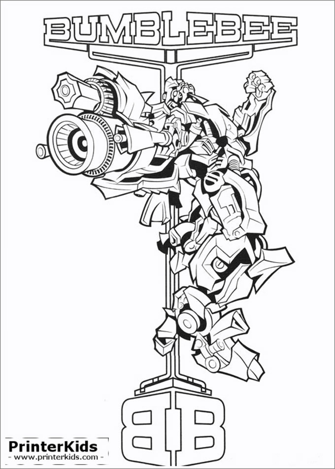 Transformers Coloring Pages Bumblebee  30 Transformers Colouring Pages