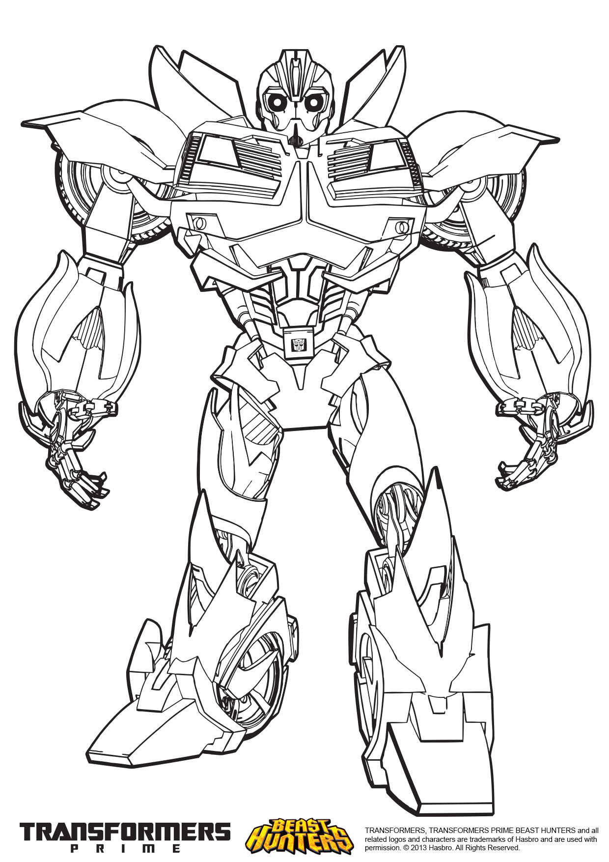 Transformers Coloring Pages Bumblebee  transformers bumblebee coloring pages free