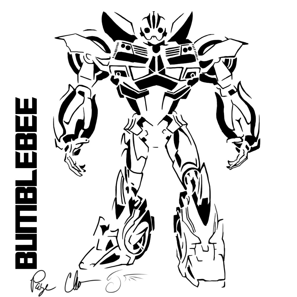 Transformers Coloring Pages Bumblebee  Transformer Robot In Disguise Bumblebee Coloring Pages